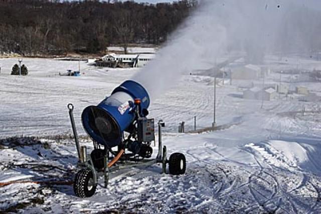Making snow at Whitetail Ridge