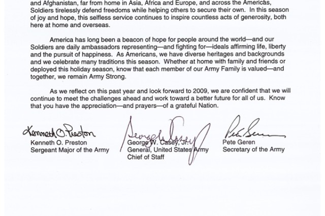 2008 holiday message from the Army senior leaders (.pdf)