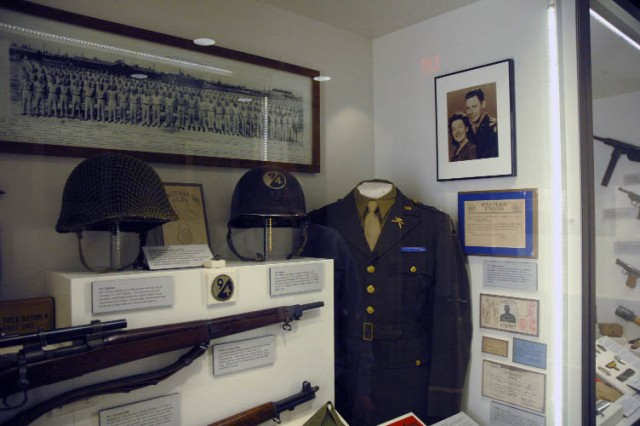 A display of donated items from his family brings to life Army Reserve Soldier 1st Lt. Maurice Myers, who died in World War II fighting in Brittany, France. The items, along with those of countless others, show the legacy of Army Reserve Soldiers.