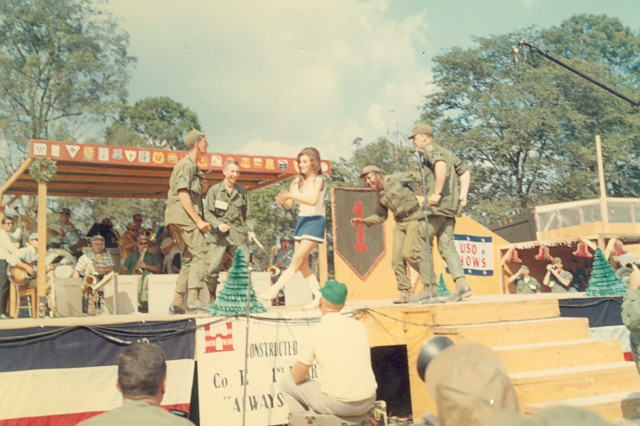 The Vince Cattera photograph collection consists of an assortment of photos taken in Vietnam in 1967 of the 1st Infantry Division. Most of the photos were taken  in the field or are of the Bob Hope Christmas show performed for the 1st Infantry Division that year (Vince Cattera Photograph Collection).