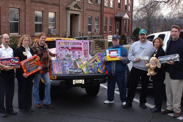 Despite a downturn in the local economy, the Watervliet Arsenal workforce stepped up and filled the void by collecting approximately 500 toys and a cash donation of $500 for the Troy, N.Y., Salvation Army.  The Salvation Army called the Arsenal workforce the community's Secret Santa's Angels.