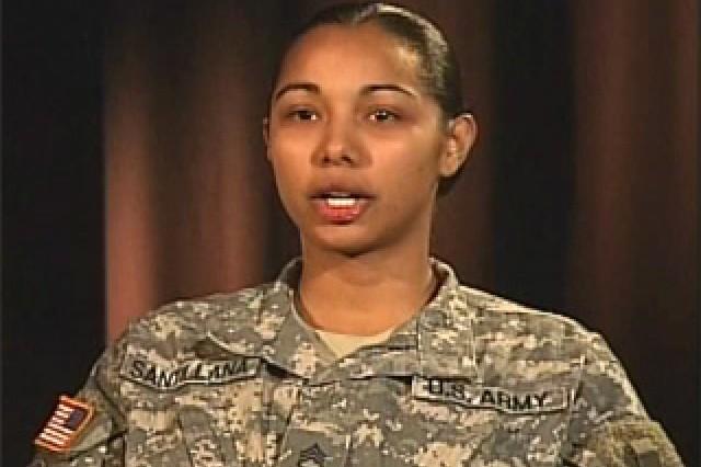 Staff Sgt. Luz Santillana, Executive Assistant, SETAF.