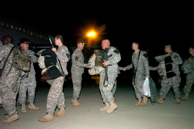 The 1st Cavalry Division leadership was on hand to formally send Soldiers from 2nd Brigade Combat Team, 1st Cavalry Division, off with a cavalry-style farewell at Gray Army Airfield, Texas Jan. 3.