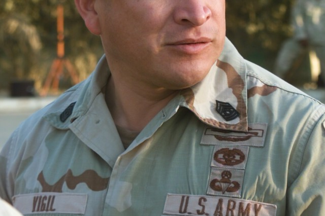 Command Sgt. Maj. Mario Vigil