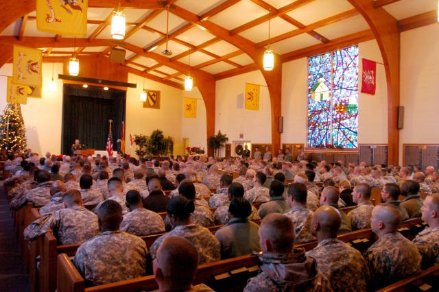 Soldiers from 2nd Brigade Combat Team, 1st Cavalry Division, gathered at 1st Cavalry Division Memorial Chapel to honor both Pfc. Jordan May and Pvt. Timmy Lynch, Jr. Jan. 5 and 6.