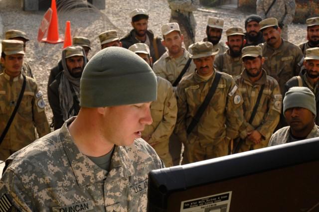 Afghan security training