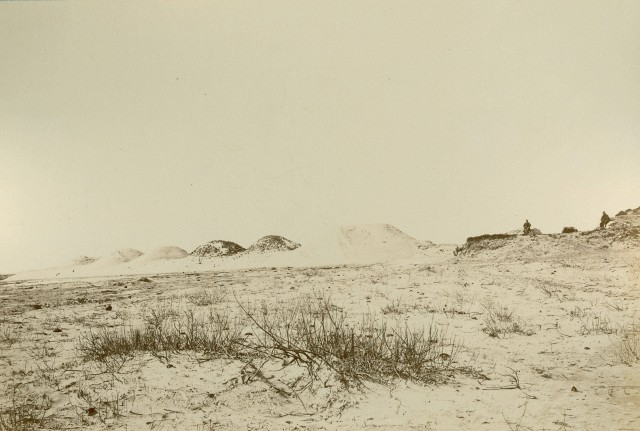 View of Fort Fisher towards the seaward face