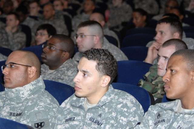 Some 800 Soldiers attended the U.S. Army Garrison Kaiserslautern's sponsored I. A.M. Strong conferences held Jan. 6 and 8 at Vogelweh, Germany. The Army launched the I. A.M. Strong program in November to engage Soldiers in preventing sexual assaults.