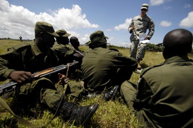 Ugandan Army exercise