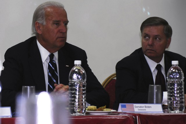 Biden, Graham meet local Kirkuk Province political officials