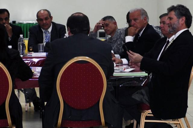 Biden, Graham meet local Kirkuk Province political officials