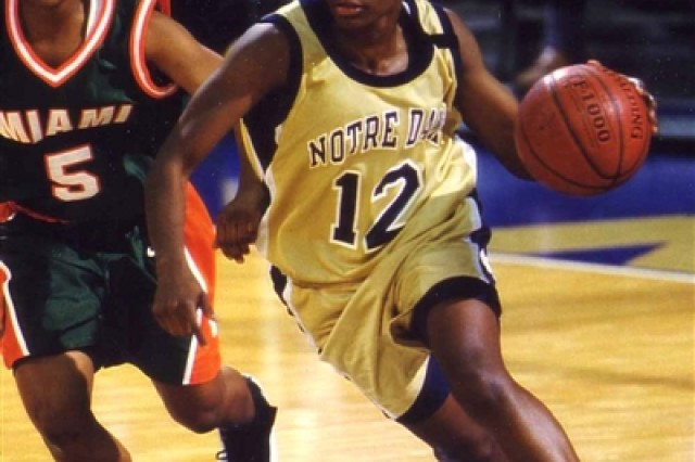 "Former Notre Dame basketball player Danielle Green-Byrd prides herself on taking ""the road less traveled"" - a road that took a fateful turn when she lost her left arm in Iraq"