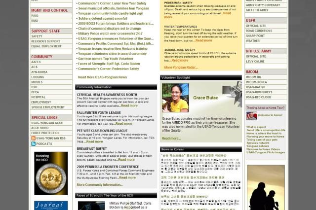 USAG-Yongsan Web site gets facelift