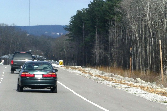 Many Redstone roadways, such as this section of Martin Road, travel through wooded areas that deer frequent.