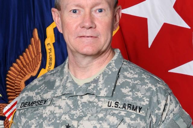 Gen. Martin Dempsey, TRADOC Commanding General.
