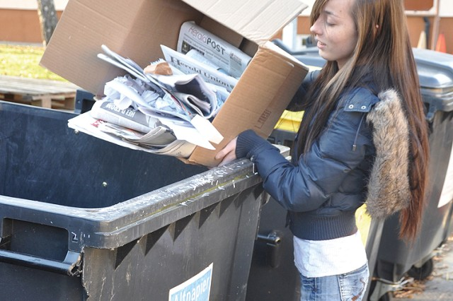 Recycling paper, glass and other refuse properly saves valuable resources and funding at U.S. Army Garrison Wiesbaden, Germany.