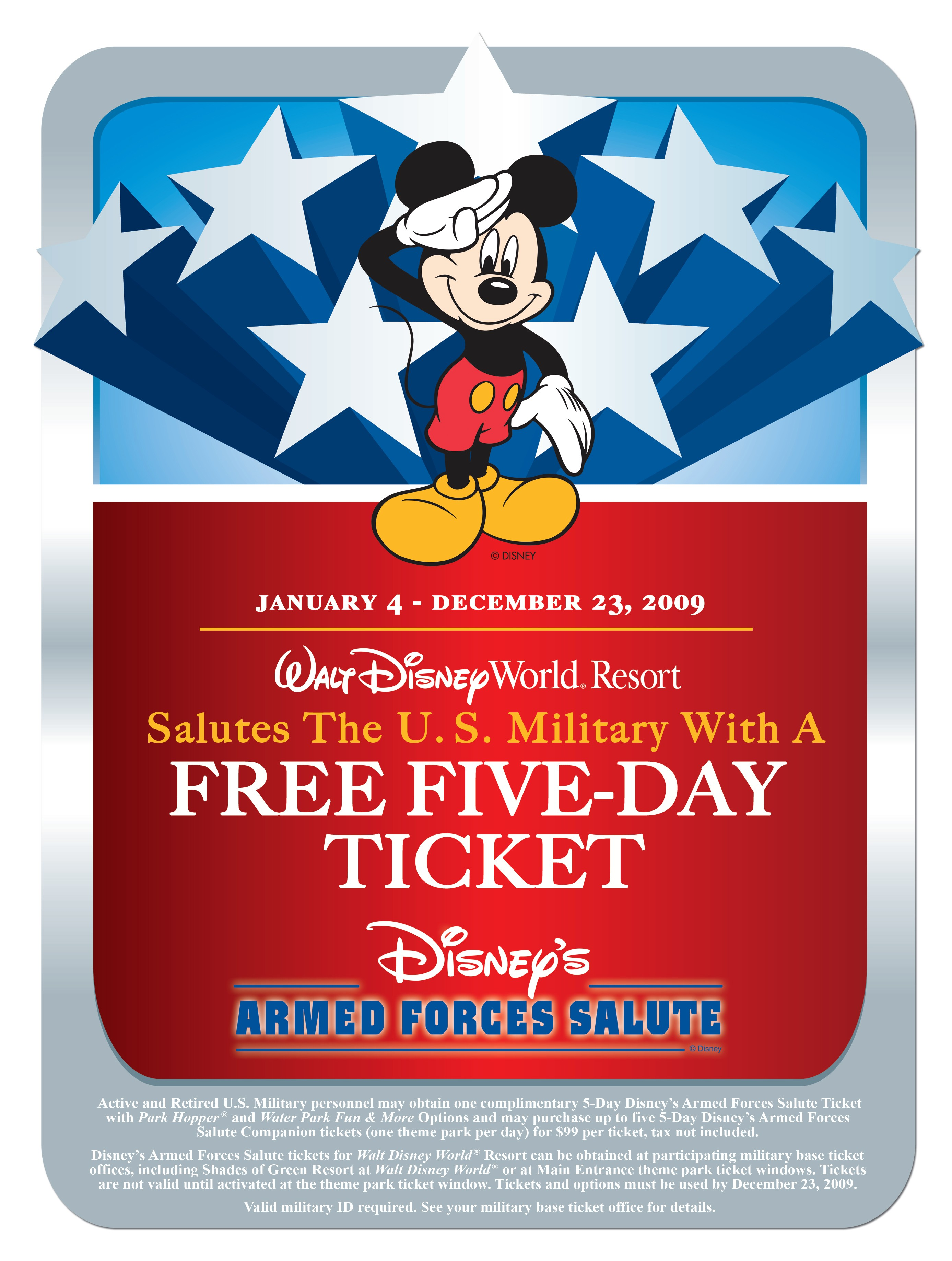 Disney parks celebrate us military with free multi day admission original publicscrutiny Images