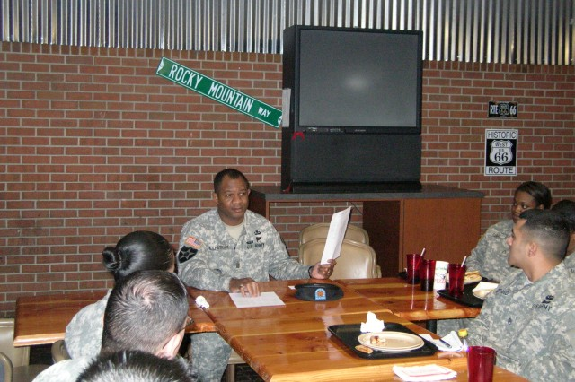 Fort Carson Garrison CSM meets with BOSS