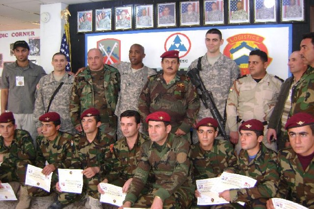 Kurdish Soldiers graduate US Army combat lifesaver course