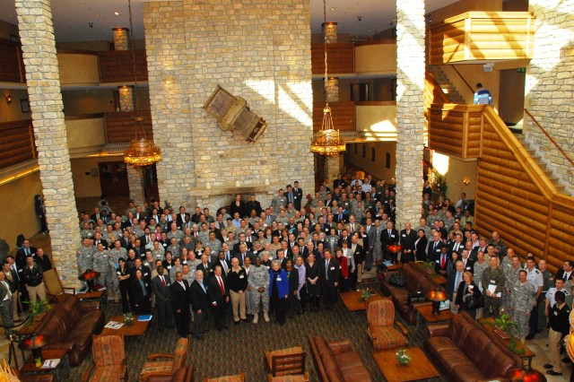 GARMISCH, Germany - More than 400 participants of U.S. Africa Command's annual Theatre Security Cooperation Working group Conference assemble for a group photo, Feb. 2, 2009, in Garmisch, Germany. Personnel from U.S. AFRICOM, the DOD, Department of State, American Embassy country teams, component commands, and interagency organizations came together to support sustained engaged security operations.