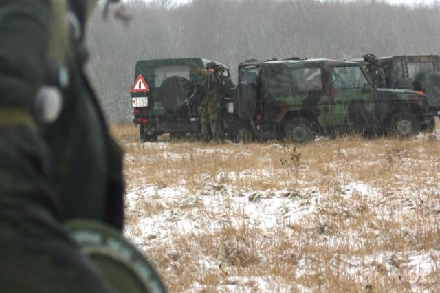 German infantry school students train for Afghanistan deployment on U.S. Army training area in Schweinfurt