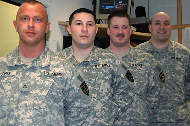 """Pfc. Berent Jones, Sgt. Michael Morales-Ramos, Pfc. Ronald Blank and Sgt. Joseph Zustra are a true testament to the quality of Soldier we have in the 630th Military Police Battalion and at US Army Garrison Bamberg,"" said Sgt. 1st Class Calvin Newman, Operations Sergeant at Department of Emergency Services'. The four MPs responded Friday to an emergency call involving an infant that had stopped breathing."