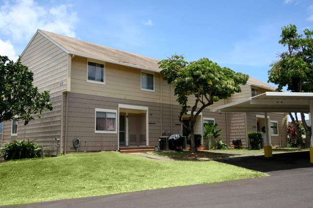 ALIAMANU MILITARY RESERVATION, Hawaii - Great views of Pearl Harbor and Honolulu are just some of the benefits of living in an Army Hawaii Family Housing (AHFH) community at Aliamanu Rim, Ft. Shafter, Red Hill and Tripler. Pictured is a home in AHFH's Aliamanu Rim community.