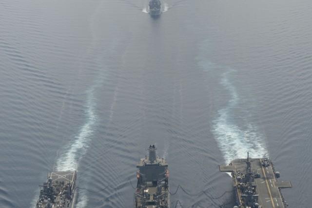 U.S. Navy fleet enroute to Cobra Gold