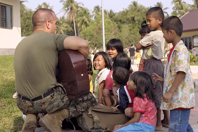Marines reach out to Pattaya orphanage during Exercise Cobra Gold 2009