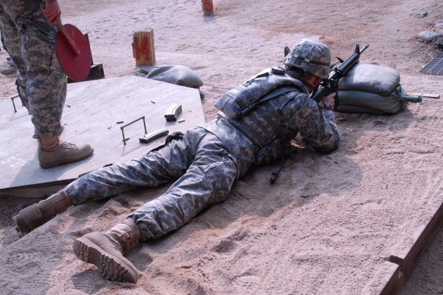 Soldiers of HHC qualify at North Star Range