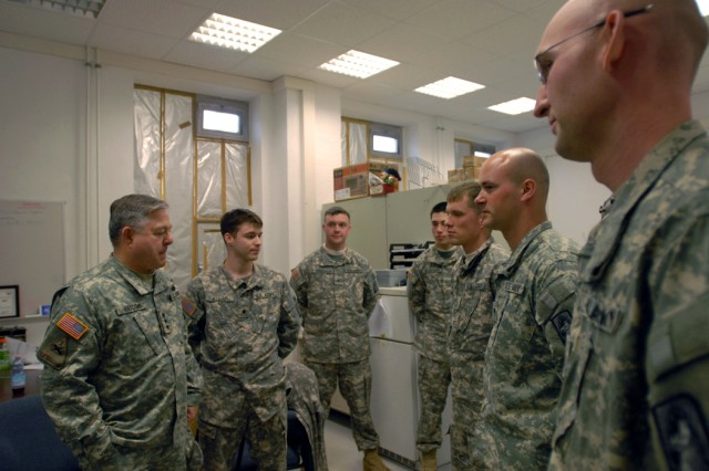 Army inspector general meets with Soldiers, civilians, Family members in Ansbach community