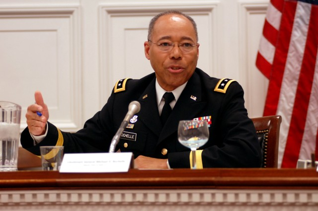 Lt. Gen. Michael D. Rochelle, deputy chief of staff, Army G-1, was one of eight former and current Soldiers who spoke on Capitol Hill, Feb. 10, as part of an Army Diversity Panel.  The group discussed diversity issues in the Army today and took questions from members of congress and staffers.