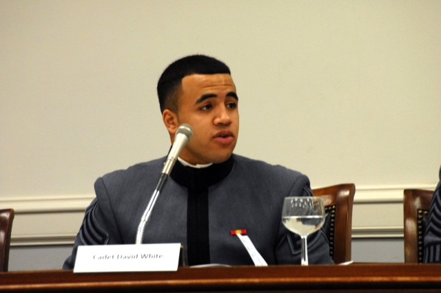 Cadet Speaks at Congressional Panel