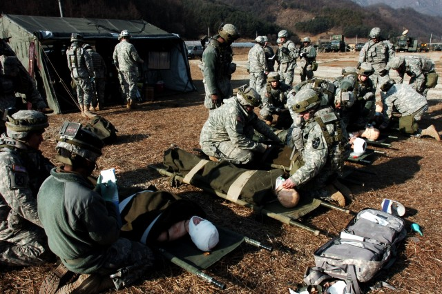 Warrior Focus: Medics respond to a simulated mortar attack