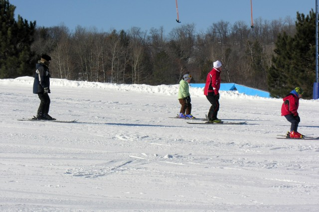 Skiing was a popular activity during the Winter Extravaganza event at Fort McCoy's Whitetail Ridge Ski Area. The Jan. 24 event attracted more than 150 people.
