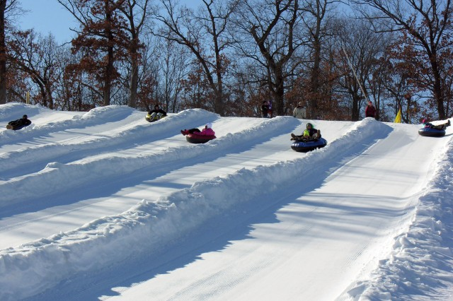 Guests at Fort McCoy's Winter Extravaganza event enjoy snow-tubing at Whitetail Ridge Ski Area.