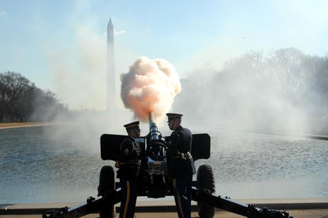 Lincoln's 21-gun salute