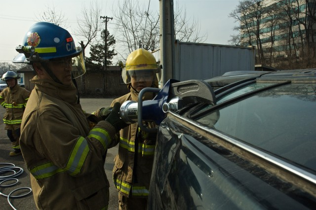Firefighters test new ways to save lives