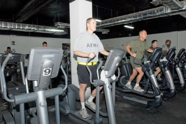 Maj. Douglas Badzik, 10th Mountain Division Preventive Medicine officer, has lost more than 40 pounds since his arrival in country approximately nine months ago.