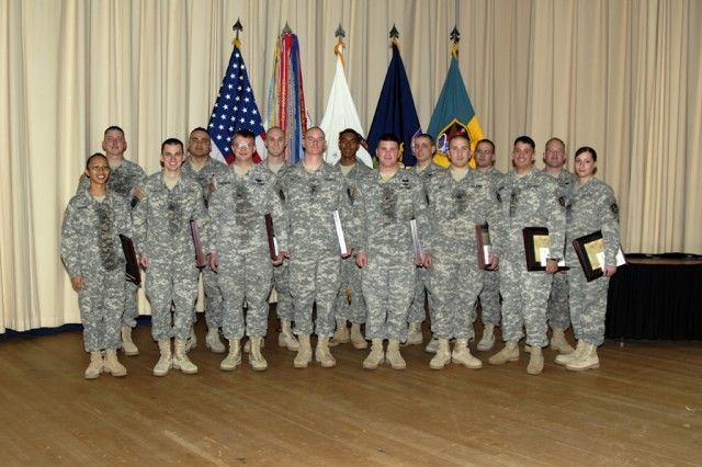 The 2009 1st Space Brigade NCO Inductees.