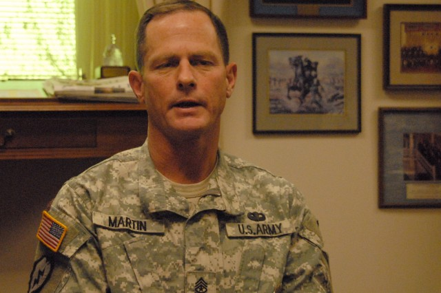 Sgt. Maj. Scott Martin, one of the first NCO congressional fellows.