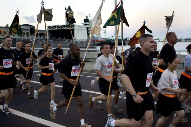 "Hawaii Soldiers Take Part in ""Great Aloha Run"""