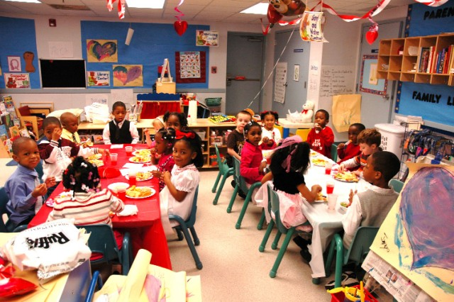 FORT MCPHERSON -- Making crafts, dancing and having a good time with their parents helped the children burn off some of the energy created by their meal, which was provided by the CYS staff.