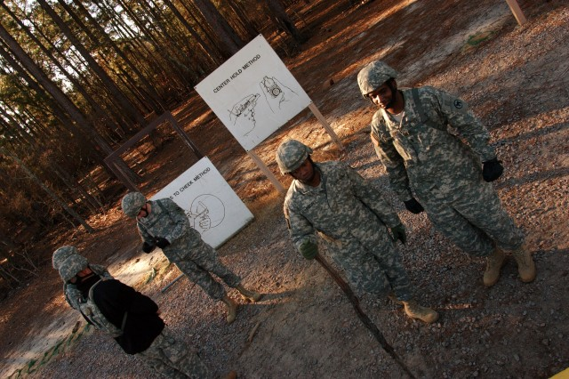 Soldiers assigned to the Army Reserve's 81st Regional Support Command prepare for a two-hour land navigation course at Fort Jackson, S.C. The command used the weekend battle assembly to sharpen several Soldier skills along with performing their mission of base operations for the southeastern portion of the U.S.