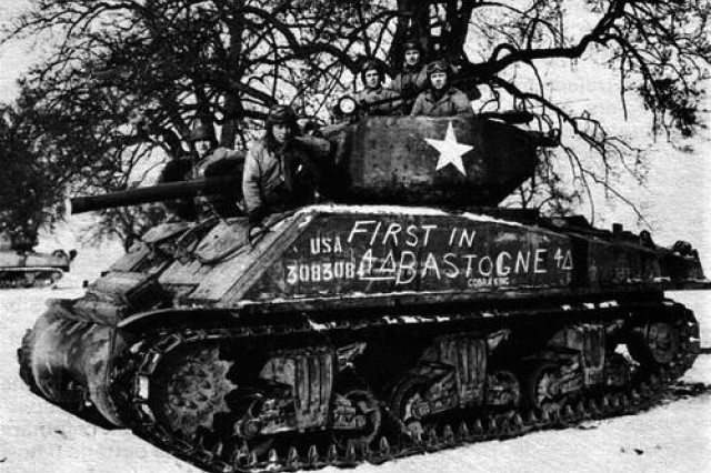 'Cobra King' led 4th Armored Division column that relieved Bastogne during Battle of the Bulge
