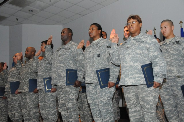 """Fort Lee officially launched its """"Year of the Noncommissioned Officer"""" celebration with an NCO Induction Ceremony Feb. 20 at the NCO Academy's Hazzard Auditorium."""