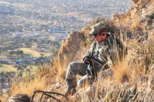 Rifleman Radio exercise, McKelligon Canyone overlooking El Paso, Texas