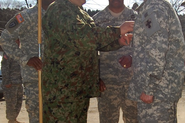 Japanese CSM Takes Part in U.S. Army Promotion Ceremony