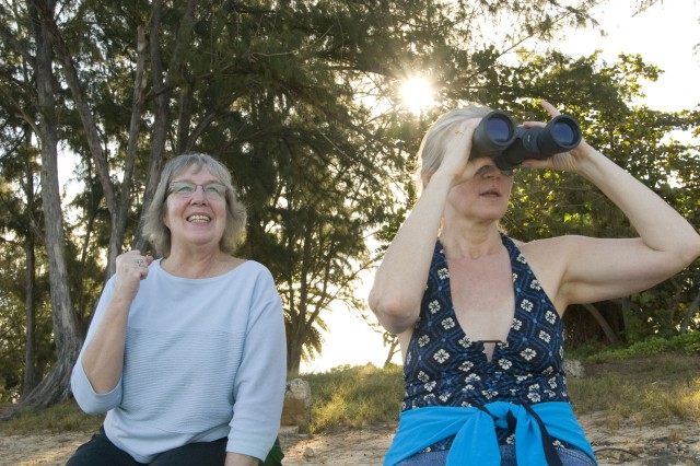 Family members have 'whale of a time' at Puaena Point Beach