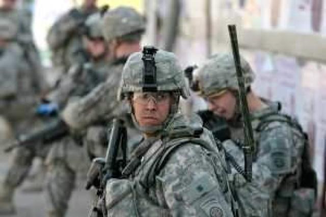 US soldiers on patrol
